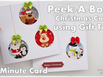 5 Minute Peek-A-Boo Christmas Card using Gift Tags ♡ Maremi's Small Art ♡