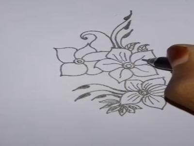 Beautiful Alpana And Rangoli Drawing- 3