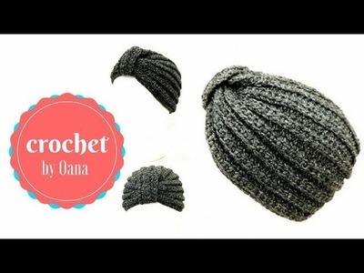 Crochet fancy turban by Oana