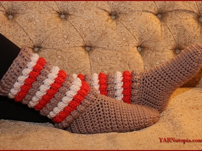 Crochet Tutorial: Winter Chic Slippers