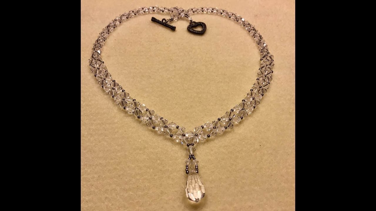Crystal Weave Necklace Tutorial