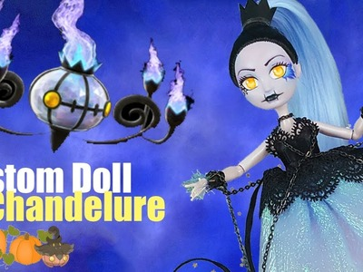 Custom Doll Repaint!  Halloween Pokemon Chandelure MH.EAH OOAK