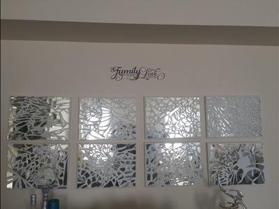 D I Y Mosaic Mirrored Wall Art.