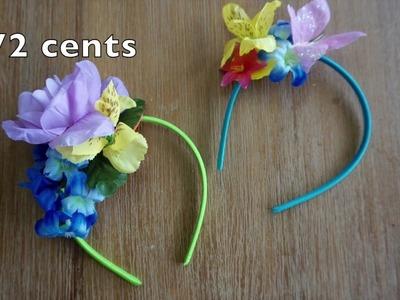DIY Flower Headbands for Little Girls