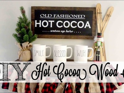 DIY Hot Cocoa Bar Wood Sign