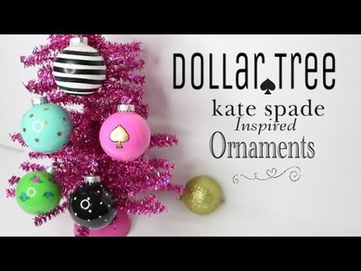 Dollar Tree DIY Kate Spade Ornaments | DIY Christmas Ornaments