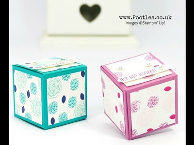 Easy No Glue Foldable Box Tutorial using Stampin' Up! Hand Stamps