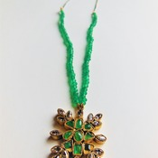 Emerald Necklace/ May birthstone/ Birthday gift for her