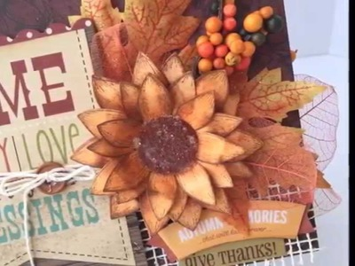 Fall Mini Album with Heartfelt Creations and Spellbinders