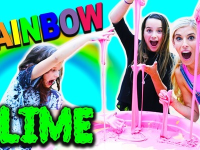 Giant Rainbow Slime with Rebecca Zamolo and Hayley LeBlanc   Annie LeBlanc