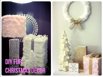 GLAM CHRISTMAS HOME DECOR -3 DIY PINK AND GOLD FUR IDEAS