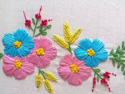 Hand embroidery designs. Tiny design for cushion covers.