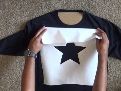 How to bleach a design onto a t-shirt