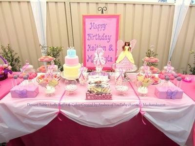 How to Create my Dessert Table & Candy. Lolly Buffet Treats - Mackayla & Kaitlyn's Birthday 2012