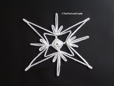 How to Crochet a Snowflake Pattern #148│by ThePatternfamily