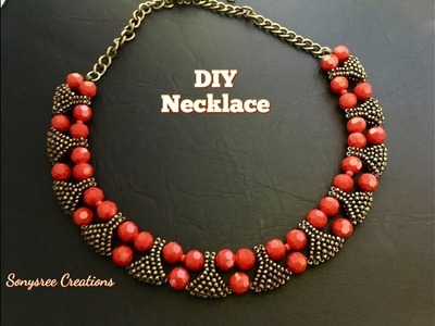 How to Designer Statement Beaded Necklace ????????????????
