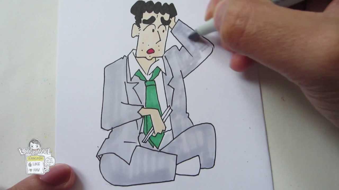 How to draw Hiroshi Nohara 野原ひろし