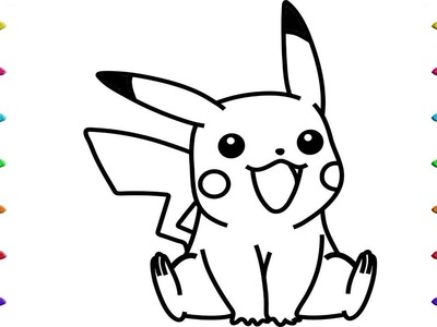 How to Draw Pokemon Coloring Pages Videos for Childrens and Baby
