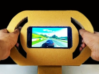 How to make a Gaming Steering Wheel out of Cardboard for Smartphone and Tablet | DIY at HOME