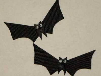 HOW TO: Make a Halloween Bat out of Ribbon (Style #3 of 3) by Just Add A Bow