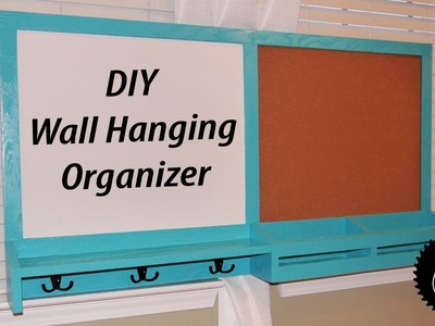 How to Make a Hanging Wall Organizer | Great for College Students!