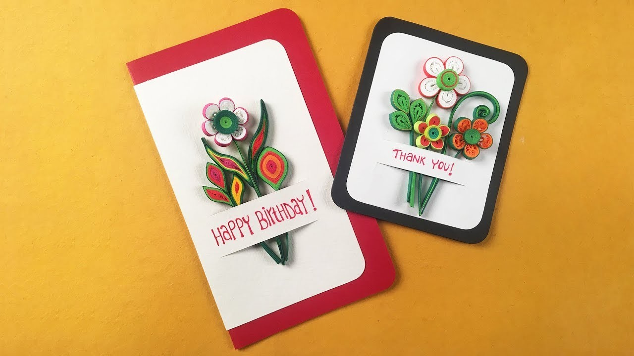 How to make a Simple Quilled Card