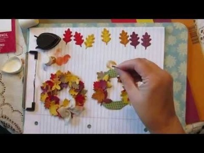 How To Make A Spellbinders Fall Leave Wreath