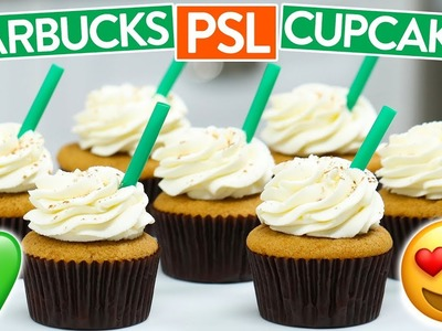 HOW TO MAKE STARBUCKS PSL CUPCAKES (Pumpkin Spice Latte)