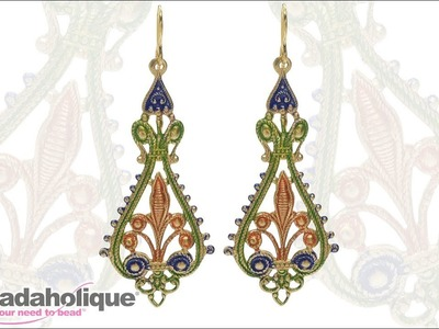 How to Make the Saint Tropez Earrings featuring Vintaj Filigree and Patinas