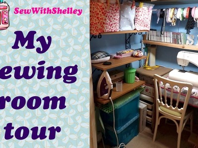 How to organise a sewing room. Sewing room tour