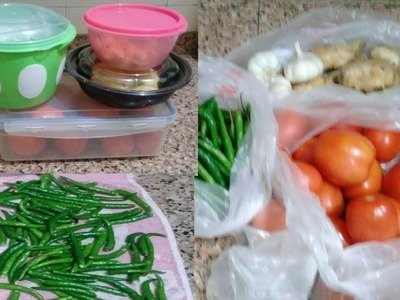 How to store vegetables in fridge. Kitchen tips