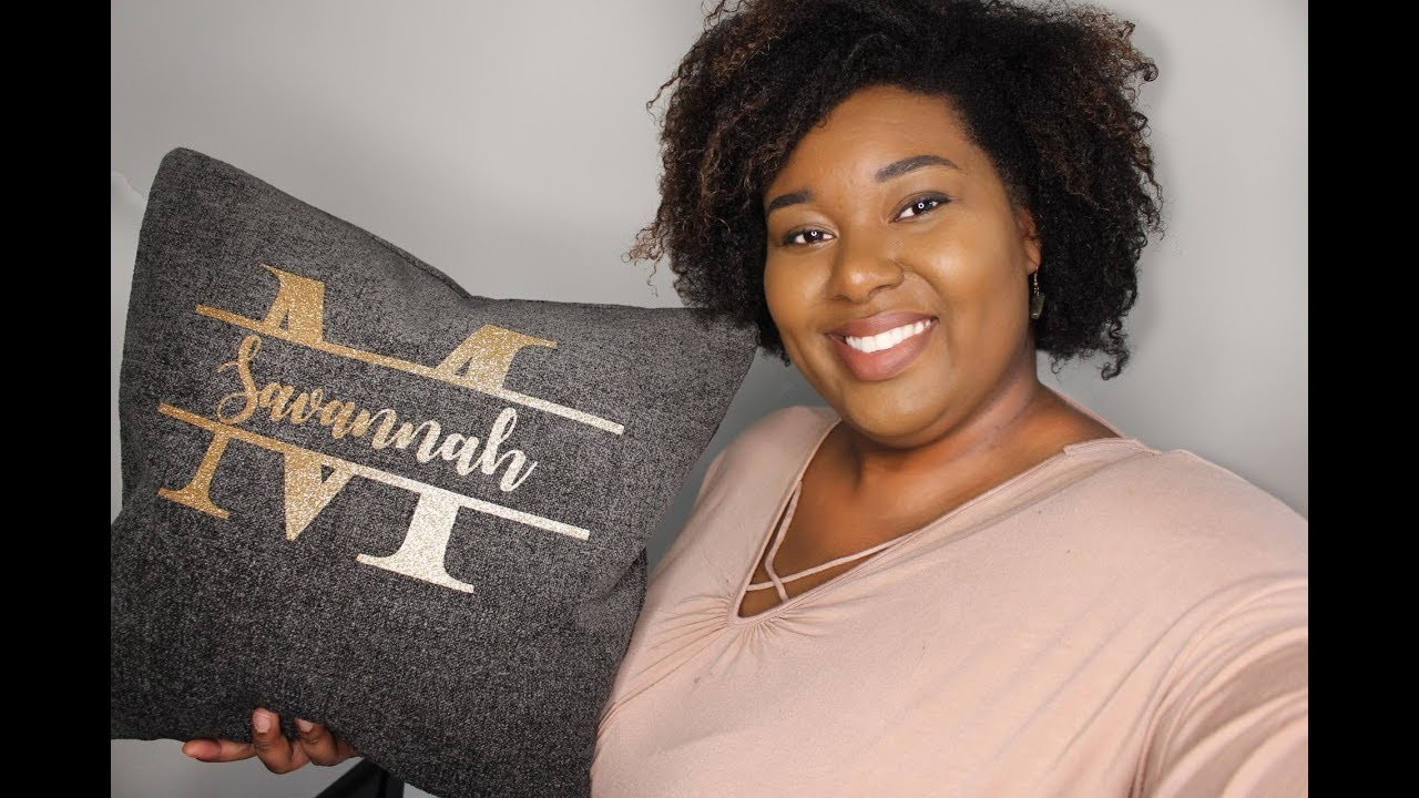 Personalized pillow with CRICUT IRON-ON