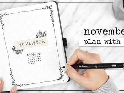 PLAN WITH ME. November Bullet Journal Setup + Q&A