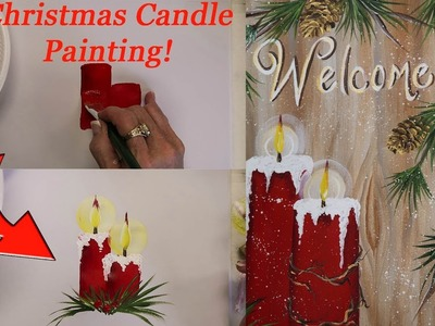 Quick and Easy: Christmas Candle Painting! (2017)