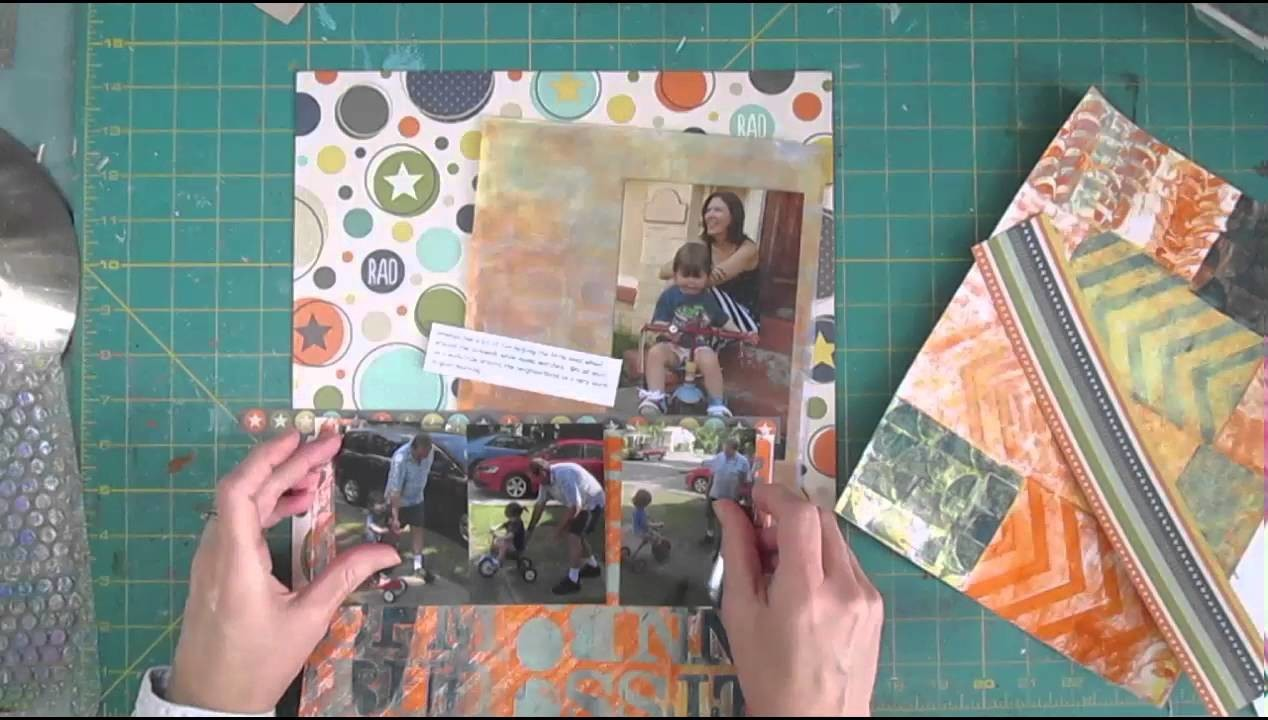 Scrapbook Process Using a 2 Page sketch for 1 page layout