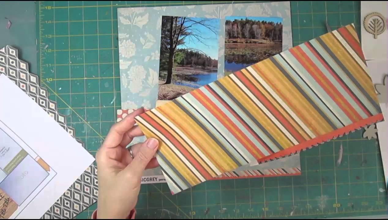 Scrapbooking Process 3 4x6 Fall Photos