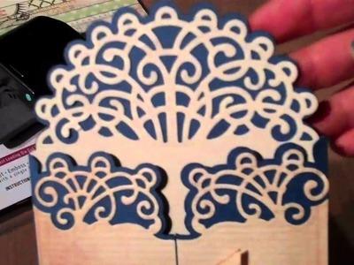 Spellbinders - Heartfelt Creations Layered Elegant Swirl Card - My Minds-CardSpiration Eye paper