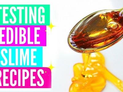 Testing Popular Edible Slime Recipes! How To Make Edible Slime DIY!