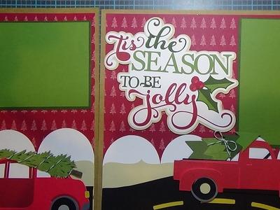 Tis the Season to be Jolly:  Cricut Christmas Scrapbook Layout