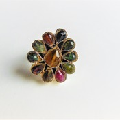 Tourmaline Ring/ Birthday gift for her/ Wedding gift