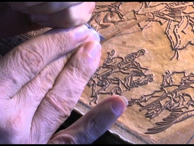 Ukiyoe Heroes (12) : Fox Moon - carving the key block