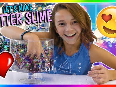USING ALL OF MY GLITTER IN SLIME   We Are The Davises