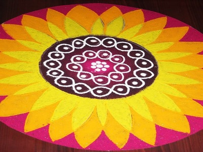 Amazing Transparent Rangoli Flower Design In easy Steps by Indian Rangoli