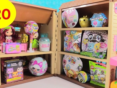 Blind Bag Dollhouse #20 Unboxing Disney Shopkins Hatchimals Lego | PSToyReviews
