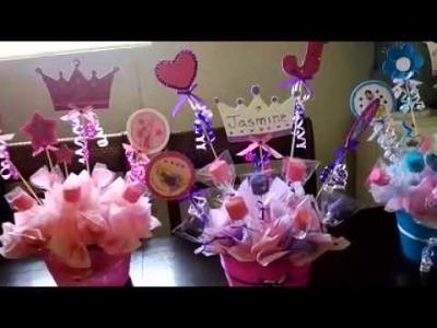 Centro de mesa de las princesas para jasmine