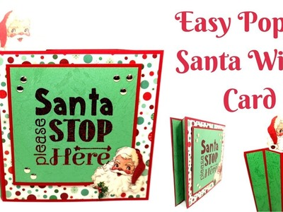 Christmas Cards | Easy Poppin Santa Wiper Card | Video Tutorial