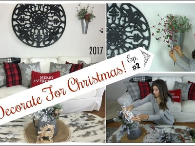 Christmas Decorate With Me | Living Room Decor | Momma From scratch