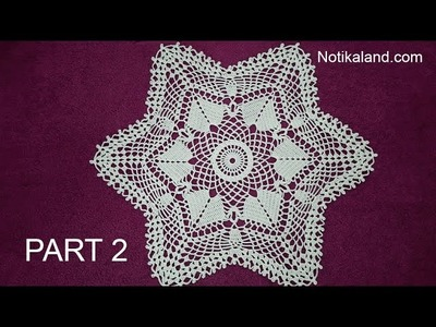 CROCHET How to crochet  lace doily tutorial Part 2