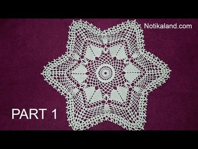 CROCHET How to crochet  lace doily tutorial Part 1