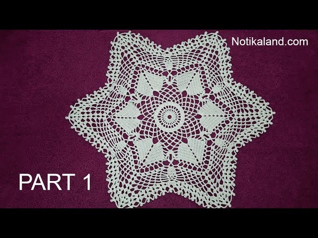 CROCHET How to crochet  lace doily tutorial Part 1